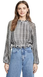 C Meo Collective Stealing Sunshine Top Black Check