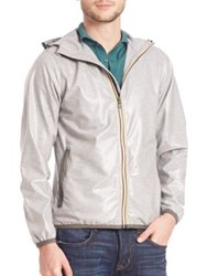 Saks Fifth Avenue Claude Zip Up Jacket Heather Grey
