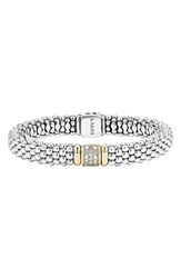 Women's Lagos Diamond And Caviar Station Bracelet