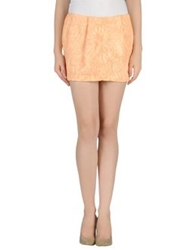 Gold Case Mini Skirts Apricot