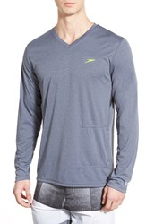 Men's Speedo Long Sleeve V Neck Swim Shirt