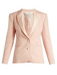 Hillier Bartley Barathea Wool And Silk Blend Tuxedo Jacket Pink