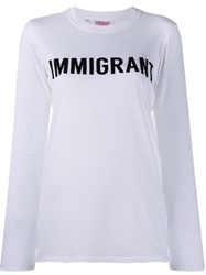 Ashish 'Immigrant' T Shirt White
