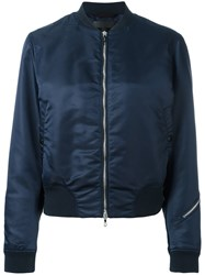 Rag And Bone Zip Detail Bomber Jacket Blue