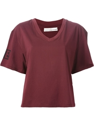 Golden Goose Deluxe Brand V Neck Loose Fit T Shirt Red