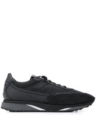 Santoni Logo Low Top Sneakers Black