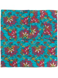 Twin Set Abstract Print Scarf Blue
