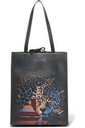 Just Cavalli Printed Faux Leather Tote Multi