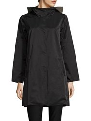 Eileen Fisher Reversible Hooded Coat Black