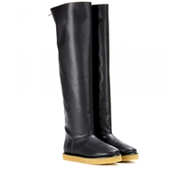 Stella Mccartney Brompton Faux Leather Over The Knee Boots Black