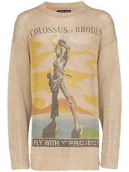 Y Project Colossus Relaxed Fit Knitted Jumper Neutrals