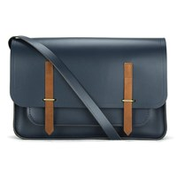 The Cambridge Satchel Company Men's Bridge Closure Messenger Bag Navy Tan