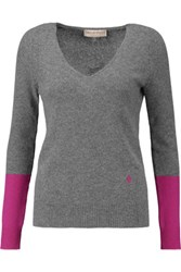 Emilio Pucci Two Tone Cashmere Sweater Gray