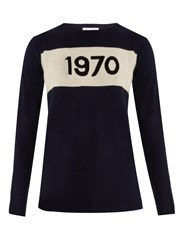 Bella Freud 1970 Cashmere Sweater Navy