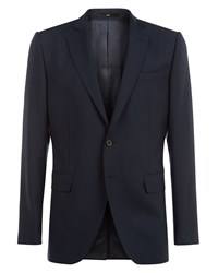 Jaeger Wool Slim Jacket Blue