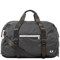 Fred Perry Authentic Roll Top Barrel Bag Black