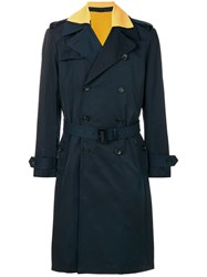 Joseph Belted Trench Coat Blue
