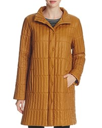 Eileen Fisher Stand Collar Quilted Coat Arnica