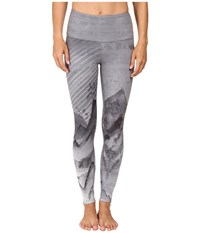 The North Face Super Waisted Printed Leggings Tnf Black Mountain Print Prior Season Casual Pants Gray