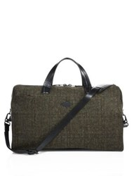Rag And Bone Leather Blend Duffle Bag Olive Wool