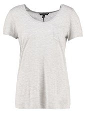 Banana Republic Basic Tshirt Heather Grey Silver