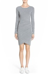 Women's Leith Ruched Long Sleeve Dress Gry Cloudy Heather