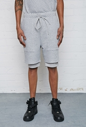 Forever 21 Eptm. Quilted Shorts Grey Grey