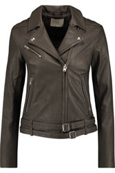 Iro Jone Leather Jacket Dark Gray