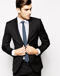 Dkny Slim Fit Plain Heritage Suit Jacket Black