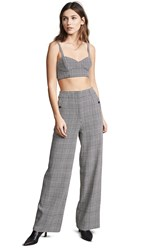 Fame And Partners The Olivia Set Houndstooth Black And White
