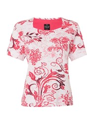 Tigi Short Sleeve Floral Print Top Pink