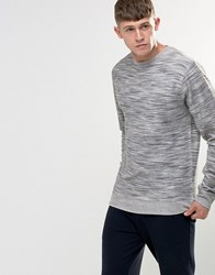 Bellfield Space Dye Loopback Marl Sweatshirt Grey