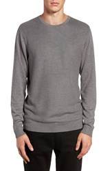 Calibrate Men's Honeycomb Stitch Crewneck Sweater Grey Cloudy Heather