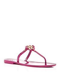 Tory Burch Flat Thong Sandals Mini Miller Jelly Fuchsia