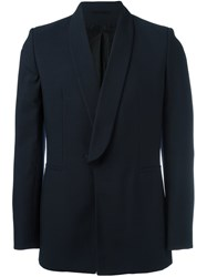 Ann Demeulemeester One Button Blazer Blue