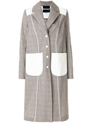 House Of Holland Oversized Coat Brown