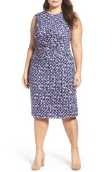 Nic Zoe Plus Size Women's Groundwork Knit Sheath Dress