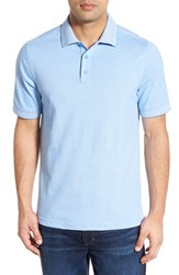 Men's Nordstrom Men's Shop 'Classic' Regular Fit Short Sleeve Oxford Pique Polo Blue Lake