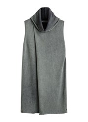Sandwich Cross Over Sleeveless Knit Grey