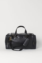 Handm H M Faux Leather Sports Bag Black