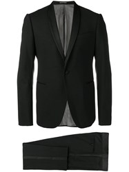 Emporio Armani Stretch Wool Tuxedo Black