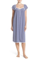 Women's Eileen West Stripe Jersey Cap Sleeve Waltz Nightgown