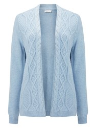 Eastex Cable Front Cardigan Light Blue