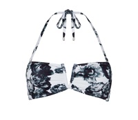 Jaded London White Floral Bandeau Top