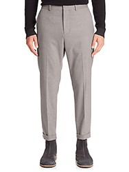 Vince City Cropped Chino Pants Grey