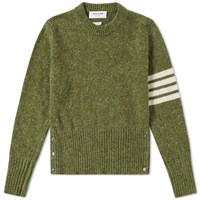 Thom Browne Classic Donegal Short Crew Knit Green