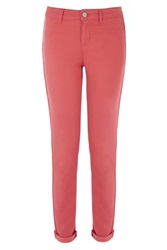 Oasis Jade Stretch Skinny Coloured Crop Jeans Orange