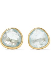 Pippa Small 18 Karat Gold Aquamarine Earrings One Size