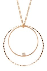 Stephan And Co Circle Geo Pendant Necklace Black