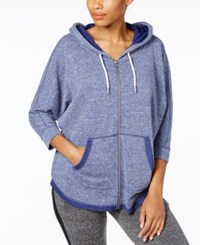 Calvin Klein Performance Dolman Zip Hoodie Moonlight